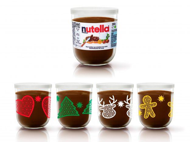Pots collectors Nutella Noël 2016