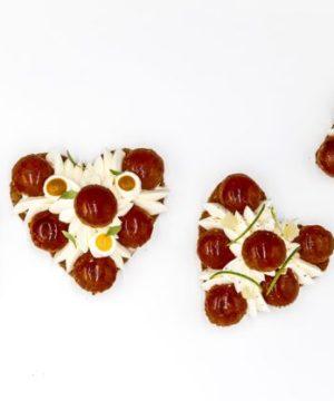 Saint Valentin 2018 Pâtisserie coeur Saint Honoré par Yann Couvreur