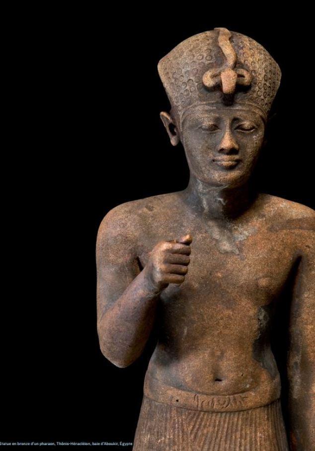 Statue en bronze d'un Pharaon - Thônis-Héracléion - Baie d'Aboukir Egypte - Photo : Christoph Gerigk © Franck Goddio/Hilti Foundation