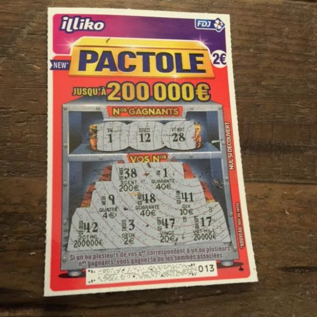 Ticket gagnant Pactole