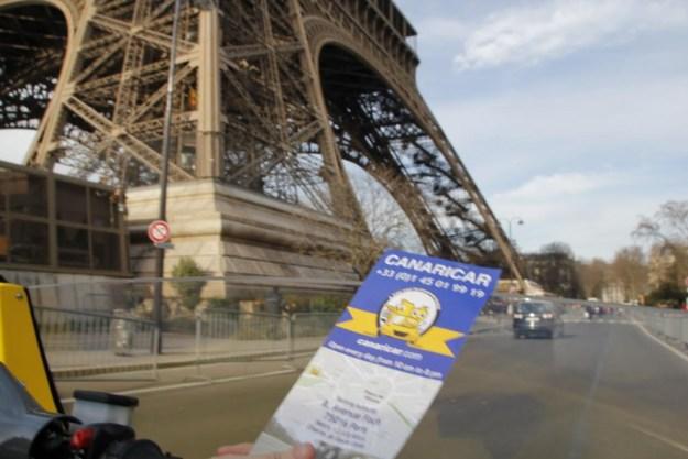 Paris visite guidée Canaricar Tour Eiffel