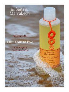 Huile les Sens de Marrakech les soins de l'eau