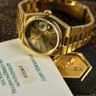 ROLEX DAY-DATE OYSTERQUARTZ REF. 19018 YELLOW GOLD