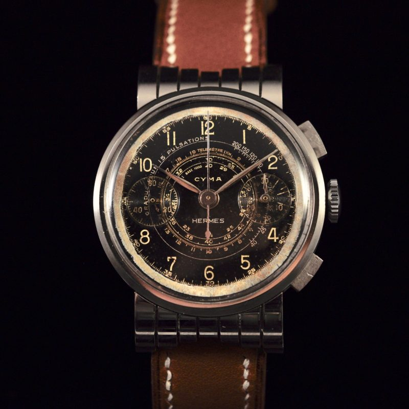 CYMA CHRONOGRAPH FOR HERMES LACQUERED DIAL