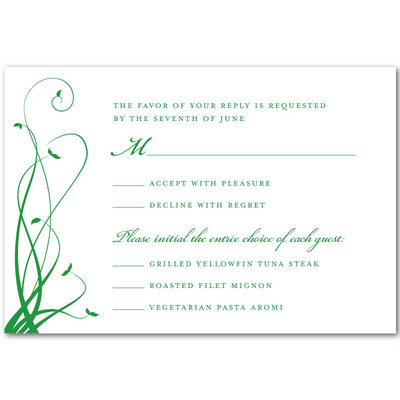 Wedding Response Card To Create A Ening Design With Appearance 6