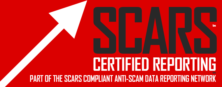 SCARS™ Compliant Certified Entry-Point™ For The SCARS Anti-Scam Data Reporting Network™