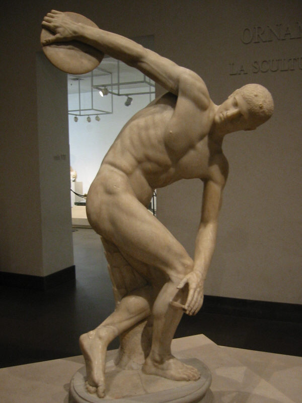 Greco-Roman statue showcasing masculinity