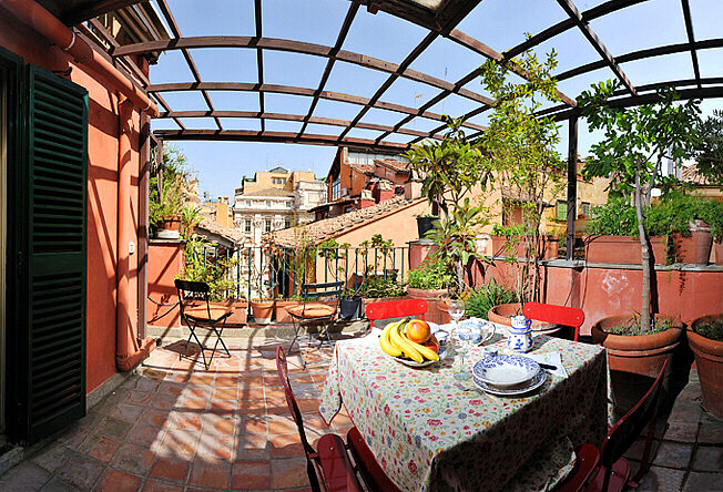 Rome Trevi Fountain Apartments With Patio Terrace