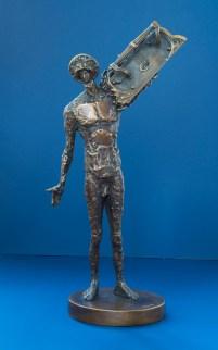 Cel care deschide bronz 33,5x30x9 cm