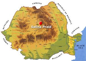 Harta Romania - Salina Praid