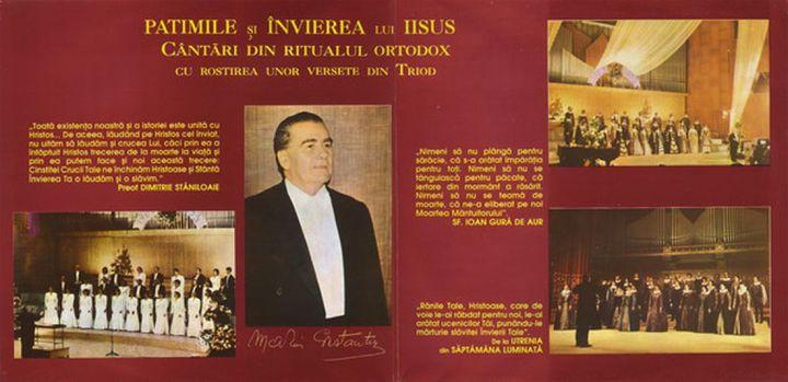 Foto 1.Booklet CD Patimile si invierea lui Iisus - Madrigal.Electrecord (foto si prel.1100 B.Dragomir)