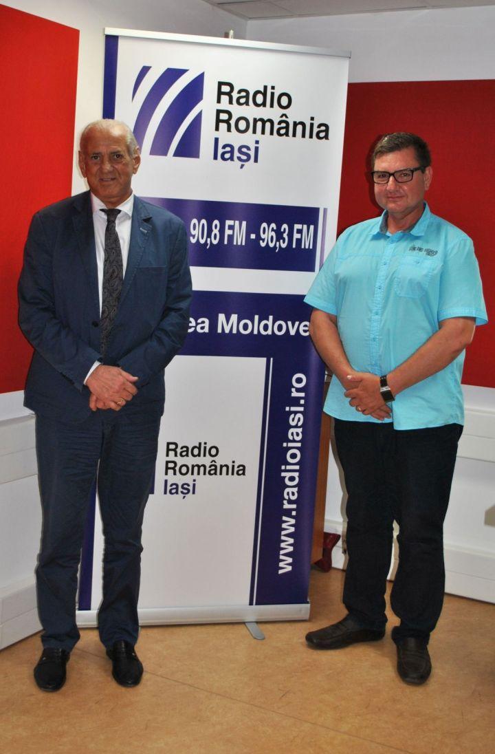 Gheorghe Zamfir și Daniel Prodan la Radio Iași.1100 (radioiasi.ro)