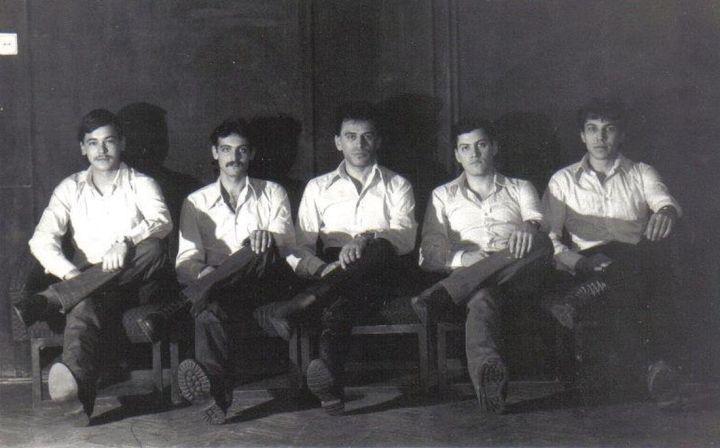 Cvintetul Vocal LUCHIAN la Sala Radio.1100 (foto arhiva personala)