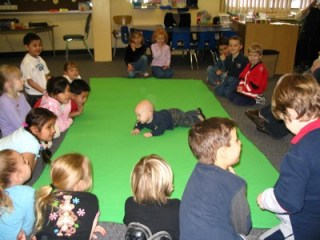 In a Roots of Empathy class, the teacher is a baby