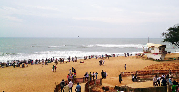Calangute Beach in Goa