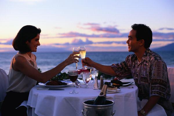 Couple  Intimate Dinner