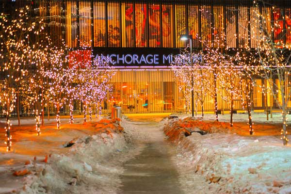 Anchorage Museum at Night