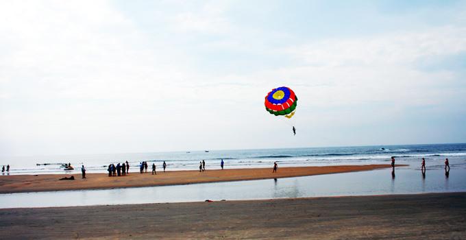 Parasailing at Varca Beach in Goa