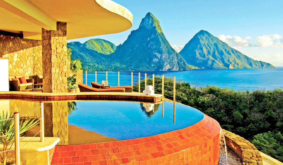 Jade Mountain Resort in St Lucia