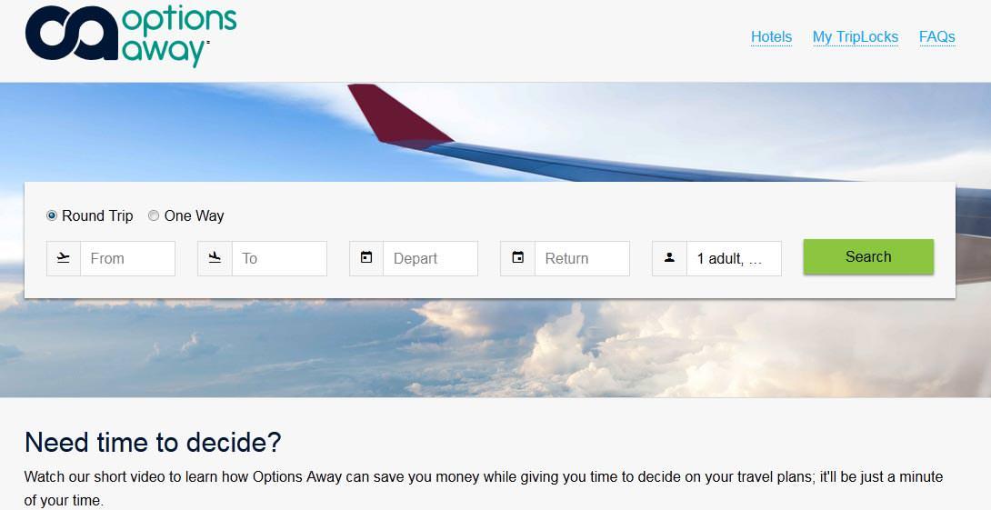 Options Away Flight Booking App