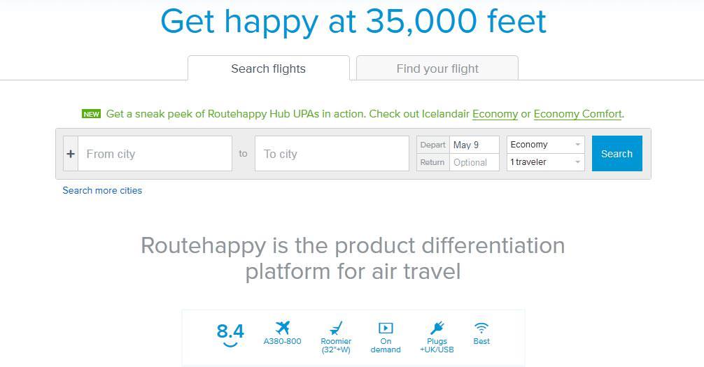 Routehappy Flight Booking App