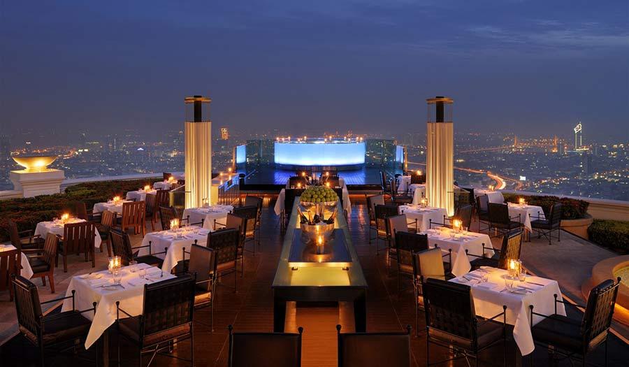 Sirocco Restaurant in Lebua Bangkok