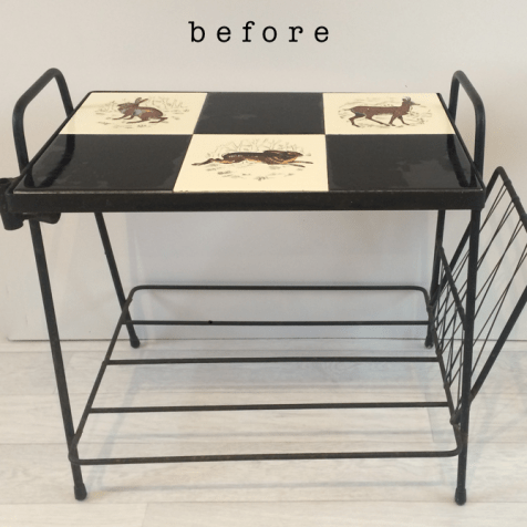 retro table before blog