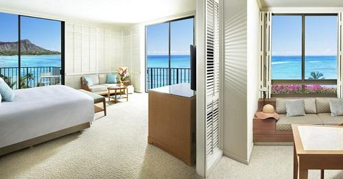 Romantic room in Halekulani Hotel, Honolulu