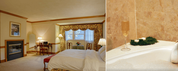 A Suite with spa tub in The Stonehedge Hotel & Spa, NH