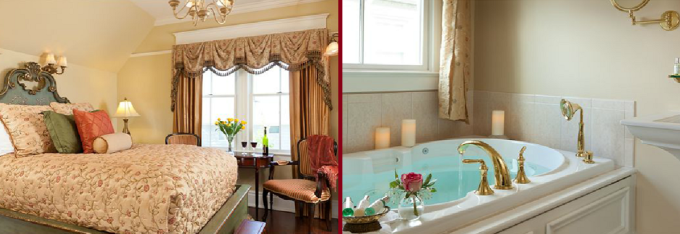 A suite with jacuzzi in The Tower Cottage Inn, NJ
