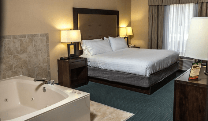 Jacuzzi Room in Holiday Inn Express Hotel & Suites - Novi, Michigan