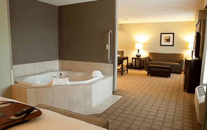 Jacuzzi Suite in Hampton Inn & Suites Detroit-Canton, Michigan