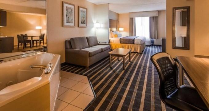 Jacuzzi suite in Best Western Plus Hotel & Suites Airport South, Atlanta, GA
