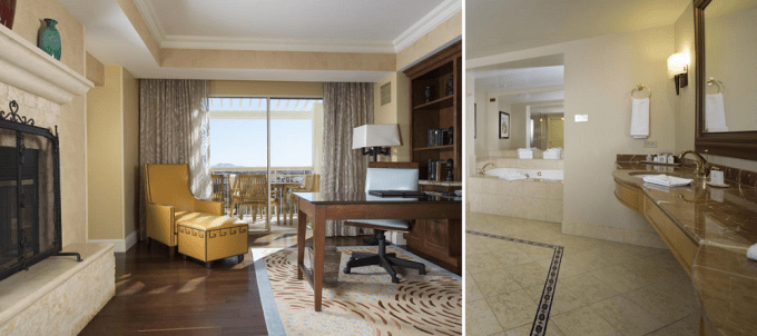 The presidential suite with Jacuzzi in JW Marriott Phoenix Desert Ridge Resort & Spa