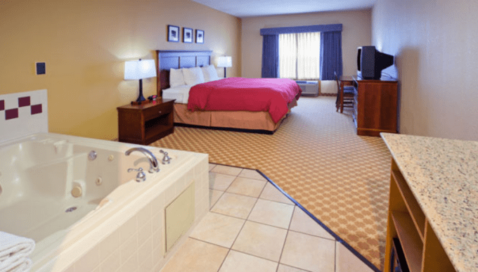 Whirlpool suite in Country Inn & Suites by Radisson, Columbus West, OH