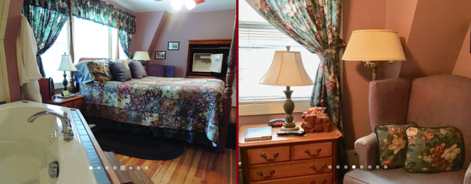 The Jacuzzi Room With Fireplace in Brookview Manor Inn Poconos