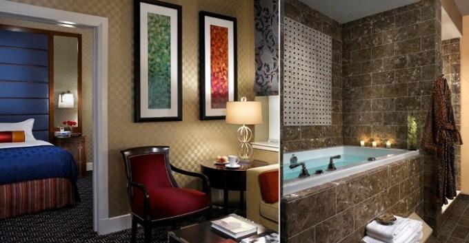 King SPA suite with Fuji tub in Kimpton Hotel Monaco Baltimore Inner Harbor,MD