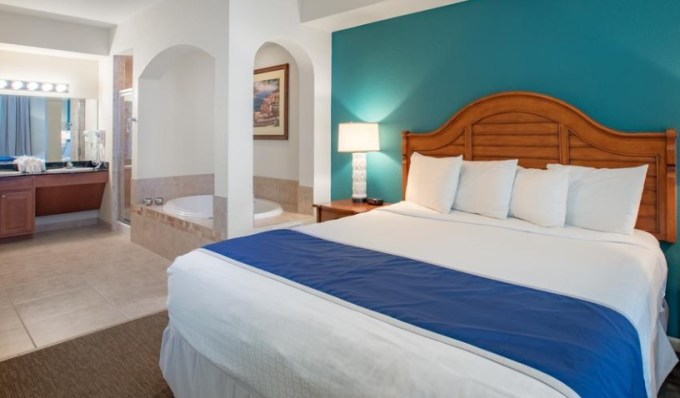 Room with in room Jacuzzi in Lake Buena Vista Resort Village & Spa near Disney World, Orlando