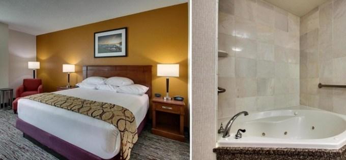 King room with Whirlpool in Drury Inn & Suites Charlotte Northlake Hotel