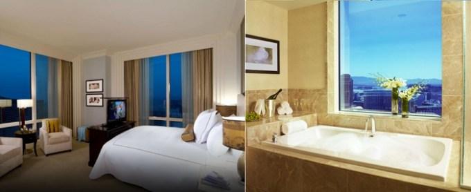 Suite with spa tub in the room in Trump International Hotel Las Vegas