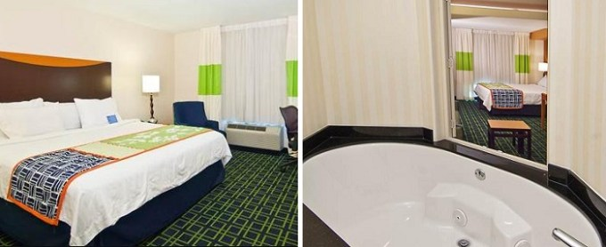 king suite with whirlpool tub in the room in Fairfield Inn & Suites by Marriott San Antonio North-Stone Oak hotel