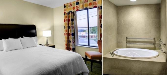 A Hot tub suite in Hilton Garden Inn Pittsburgh-Cranberry, Pensylvanya