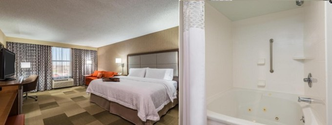 A Suite with a hot tub in Hampton Inn Buffalo-Airport Galleria Mall
