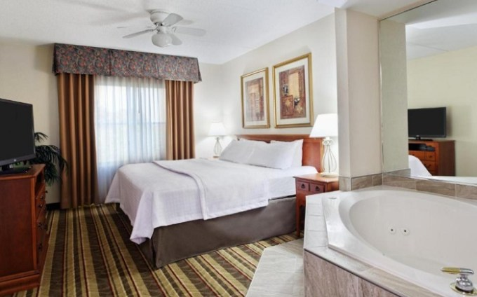 Hot tub suite in Homewood Suites by Hilton Richmond - Airport, VA