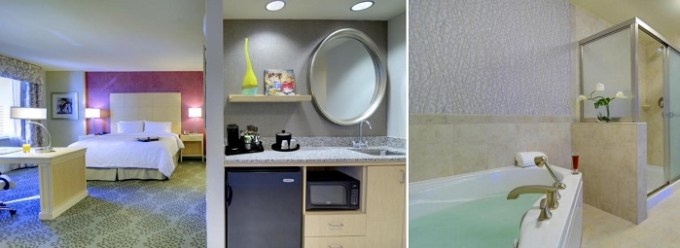 Jacuzzi suite in Hampton Inn & Suites by Hilton Miami Downtown-Brickell, Florida