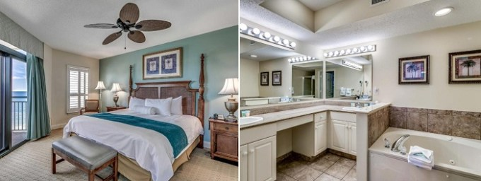 Jacuzzi suite in Island Vista Resort, Myrtle Beach, SC