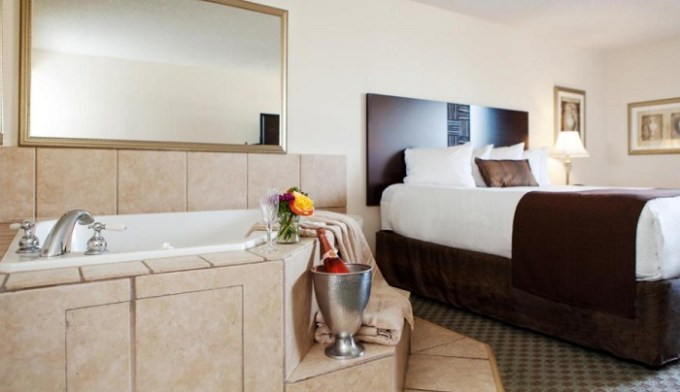 King room with a private Jacuzzi tub inside in Best Western Plus Seville Plaza Hotel, Kansas City, MO