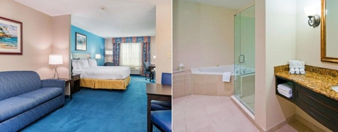 King room with a private whirlpool tub in Holiday Inn Express & Suites Miami Kendall, Florida