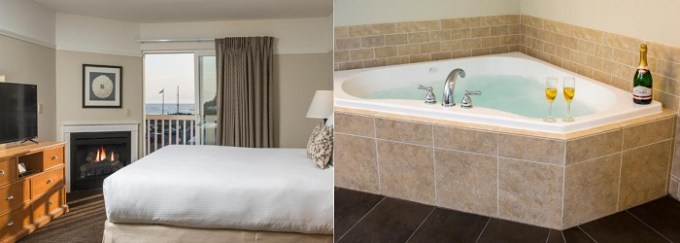 Oceanfront room with whirlpool tub in Looking Glass Inn - Lincoln City, Oregon Coast