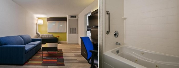 Studio with jetted tub in Holiday Inn Express Hotel & Suites Everett, Washington